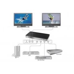 VIDEO MATRIX HDMI 2 VIDEO CON 4 DISPOSITIVI HDMI