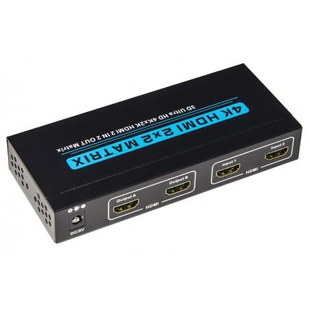 VIDEO MATRIX PER 2 DISPOSITIVI HDMI CON 2 TV HDMI