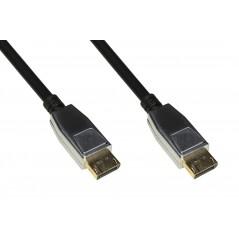 CAVO DISPLAYPORT 1.4 - HDMI 2.0 CONTATTI DORATI 4KX2K 60HZ 18GBPS HDR RGB 4:4:4 MT 1,80 CONNETTORI IN METALLO
