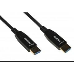 CAVO ESTENSORE ATTIVO AOC HDMI 2.0 4KX2K 60HZ MASCHIO/MASCHIO IBRIDO RAME-FIBRA OTTICA MT 100