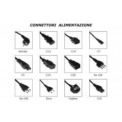 CAVO ALIMENTAZIONE MT. 1.80 SPINA TEDESCA 90 GRADI 250 V PRESA IEC VDE SEZIONE CONDUTTORI 1,5 MM