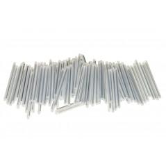 *CONFEZIONE 100 FASCETTE DENTATE CON PIASTRINA INDICATRICE MM. 200 x 2,5