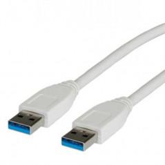 CAVO USB 3.0 CONNETTORI A-A MASCHIO/MASCHIO MT 1,80 BIANCO