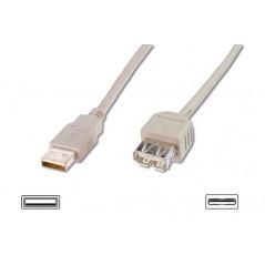 "CAVO PROLUNGA USB MT. 3 - CONNETTORI ""A"" MASCHIO/FEMMINA CERTIFICATO USB 2.0"