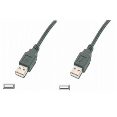 """CAVO USB MT. 3 - CONNETTORI USB TIPO """"A"""" MASCHIO/MASCHIO CERTIFICATO USB 2.0 COLORE NERO"""