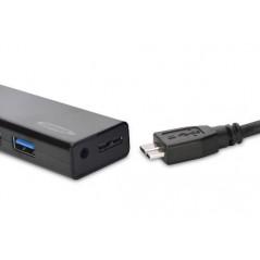 HUB 4 PORTE USB 3.0 CON ALIMENTATORE