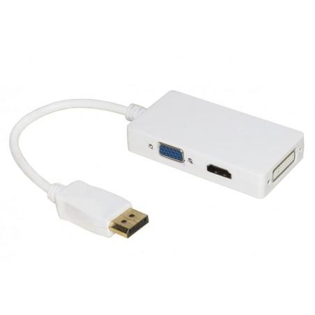 ADATTATORE DISPLAYPORT A DVI+HDMI+VGA FEMMINA
