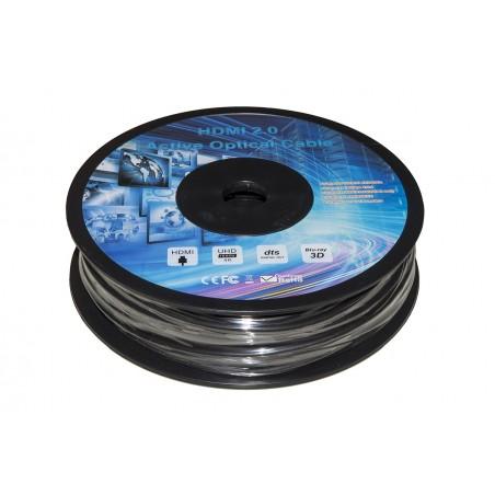 CAVO ESTENSORE ATTIVO AOC HDMI 2.0 4KX2K 60HZ MASCHIO/MASCHIO IBRIDO RAME-FIBRA OTTICA MT 60