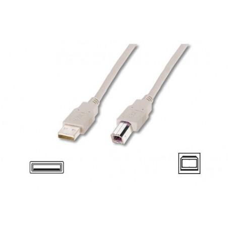 CAVO USB 2.0 CONNETTORI A-B - LUNGHEZZA MT. 1 COLORE GRIGIO CHIARO