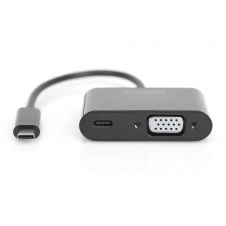 ADATTATORE GRAFICO USB TYPE-C. 4K VGA + USB-C. (PD)
