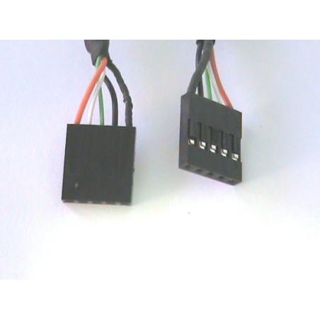 PANNELLO SLOT CON 2 CONNETTORI ESTERNI USB 2,0 TIPO A, FEMMINA - CONNETTORI INTERNI ALLA PIASTRA MADRE 2X5 PIN 2,54 MM