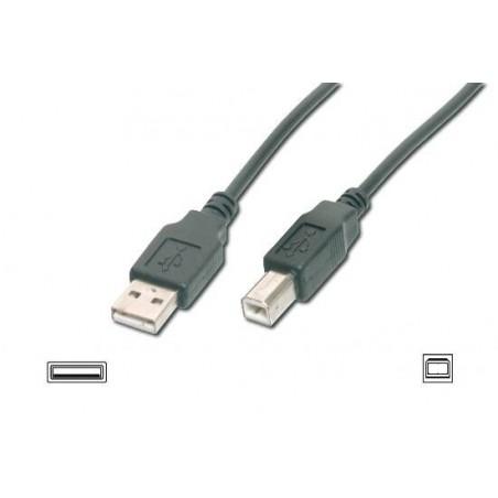 CAVO USB 2.0 CONNETTORI 1 X A MASCHIO - 1 X B MASCHIO MT. 5 COLORE NERO