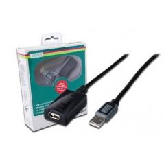 ESTENSORE DI LINEA USB 2.0 MASCHIO/FEMMINA CON CAVO DA MT. 25