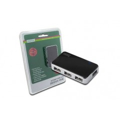 HUB 4 PORTE USB 2.0 CON ALIMENTATORE ESTERNO