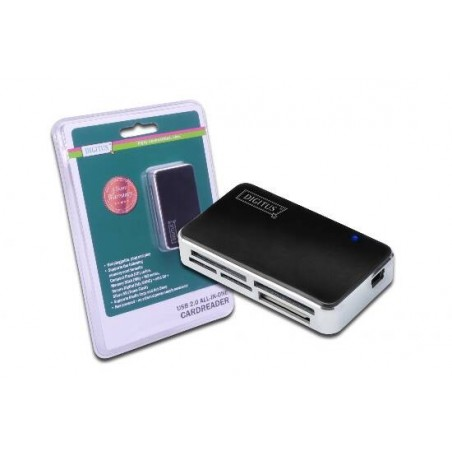 LETTORE CARD USB 2.0 COLORE BIANCO GRIGIO