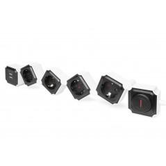 DIGITUS PRESA MULTIPLA FLESSIBILE DA 4 CON 2 ATTACCHI USB E INTERRUTTORE