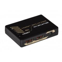 SPLITTER 4 PORTE HDMI RISOLUZIONE 4KX2K 30 HZ 1.4 CON HDCP