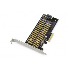 SCHEDA ADD-ON M.2 NGFF/NVME SSD PCI-EXPRESS SUPPORTA CHIAVI B, M E B+M, DIMENSIONI DA 30-110MM