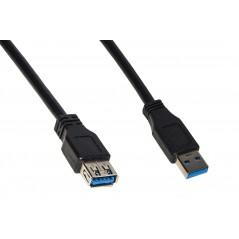 "CAVO PROLUNGA USB 3.0 CONNETTORI ""A"" MASCHIO/FEMMINA IN RAME MT 1,8"