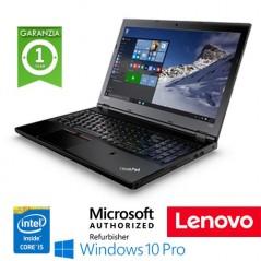 "NOTEBOOK RICONDIZIONATO LENOVO THINKPAD L560 INTEL CORE I5-6300U 8GB 256GB SSD 15.6"" WEBCAM WINDOWS 10 PROFESSIONAL"