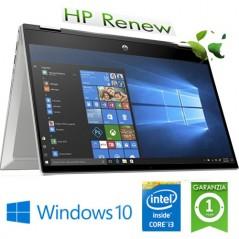 "NOTEBOOK RICONDIZIONATO HP PAVILION X360 14-DW0011NL INTEL CORE I3-1005G1 1.2 GHZ 8GB 256GB SSD 14"" FHD LED WINDOWS 10 HO"