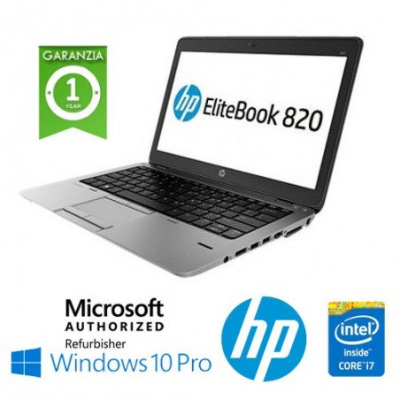 "(REFURBISHED) NOTEBOOK HP ELITEBOOK 820 G3 CORE I5-6200U 2.3GHZ 8GB 256GB SSD 12.5"" HD AG LED WINDOWS 10 PROFESSIONAL"