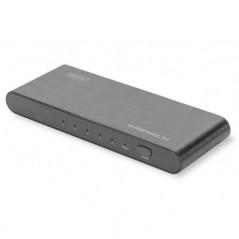 SWITCH HDMI HIGHSPEED 2.0 5X1 UHD 4K*2K@60HZ, FULL 3D ALLOGGIAMENTO ALLUMINIO