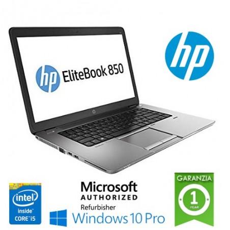 "PC NOTEBOOK PORTATILE RICONDIZIONATO HP ELITEBOOK 850 G3 CORE I5-6200U 8GB 128GB SSD 15.6"" AG LED TS WINDOWS 10 PROFESSIONAL"