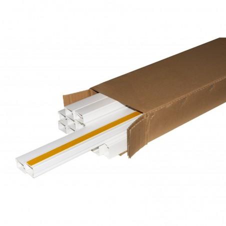 CONFEZIONE 13 CANALINE PASSACAVI ADESIVE IN PVC MT 1 DIMENSIONI 30X20 MM CON COPERCHIO SCORREVOLE BIANCO (13 MT IN TOTAL