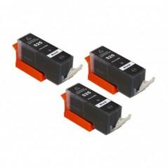 CONFEZIONE 3 CARTUCCE COMPATIBILI CANON IP 4850, MG5150, MG5250 BK PGI-525BK ALTA CAPACITA' CONFEZIONE BULK