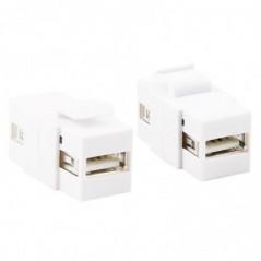 ADATTATORE KEYSTONE USB FEMMINA/FEMMINA