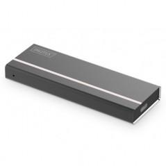 ALLOGGIAMENTO SSD ESTERNO USB TYPE-C 3.1 M.2 (NVME) SENZA ATTREZZI, ALLOGGIAMENTO IN ALLUMINIO, KEY M O KEY B+M