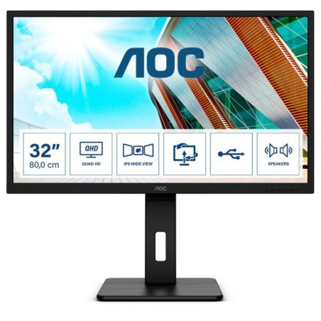 MON 31,5 IPS HDMI DP QHD MM 4MS AOC Q32P2