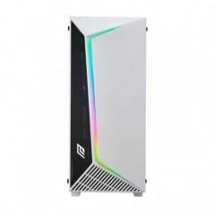 CASE FULL-TOWER NO PSU IRON V9 WHT 1USB3 2USB2 VETRO TEMPERATO RGB FAN