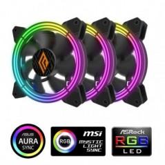 VENTOLA ZEPHYR 120 RGB 3IN1 PWM BLK PACK 3 VENTOLE 120MM ARGB CONTROLLE